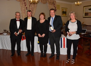 Some of The Friday night trainers at the annual dinner 2015